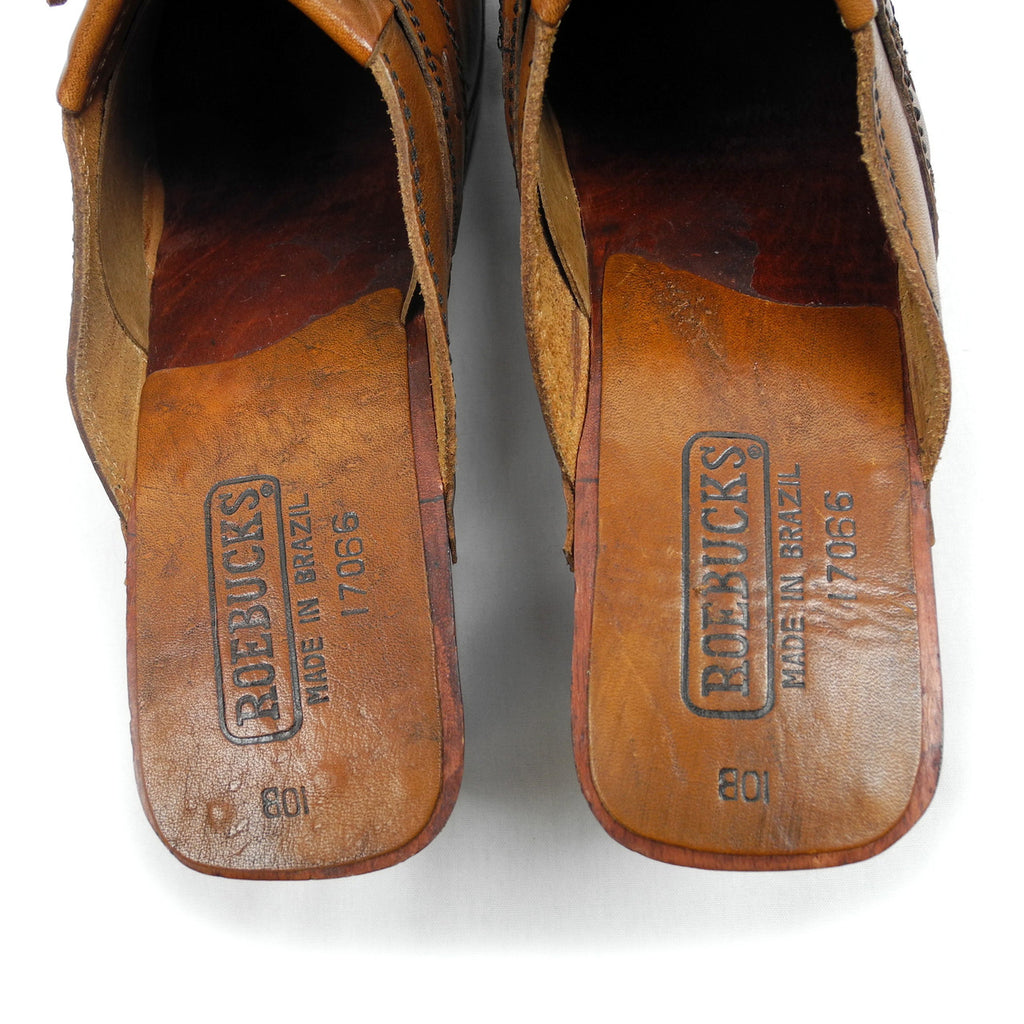 Sears Roebuck vintage Leather Clogs