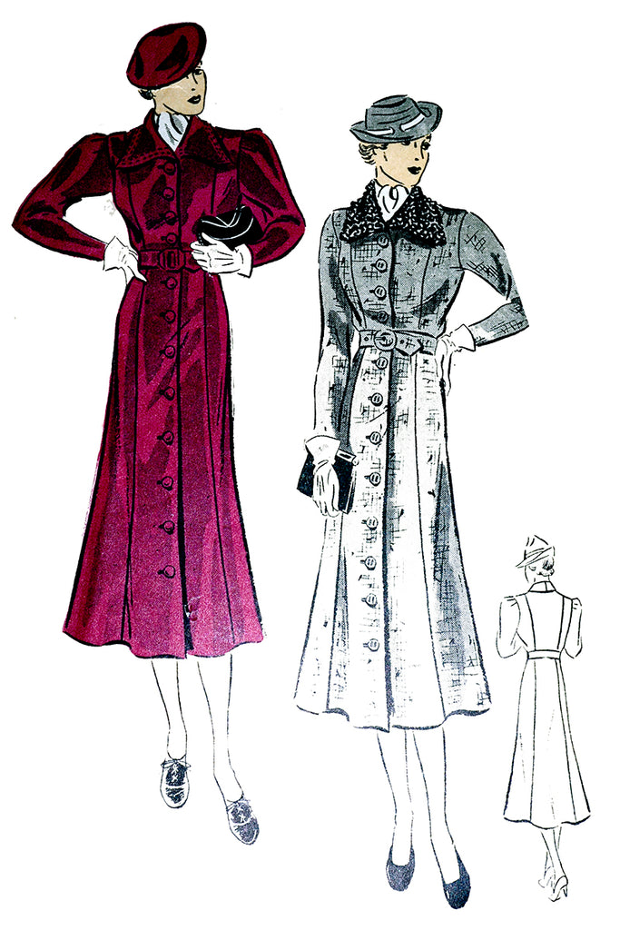 DuBarry 1532b 1930s Vintage Sewing Pattern for Ladies Coat ...