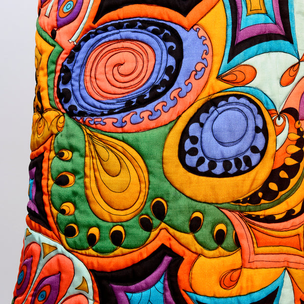 Quilted Shape Psychedelic Maxi Dress Size 8