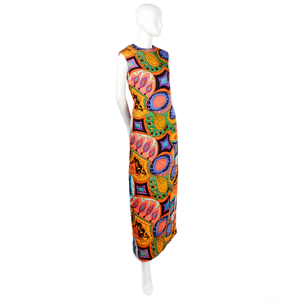 Psychedelic quilted maxi dress Dynasty Hong Kong