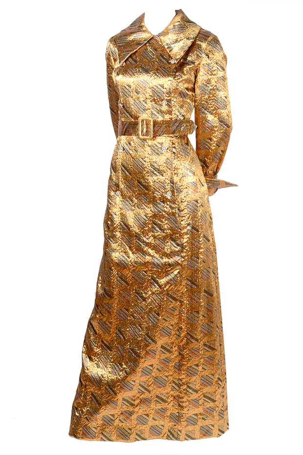 Vintage Dynasty Metallic Long Dress