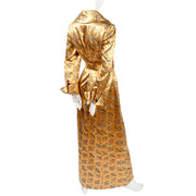 Metallic Dynasty Hong Kong 1970's Vintage Dress