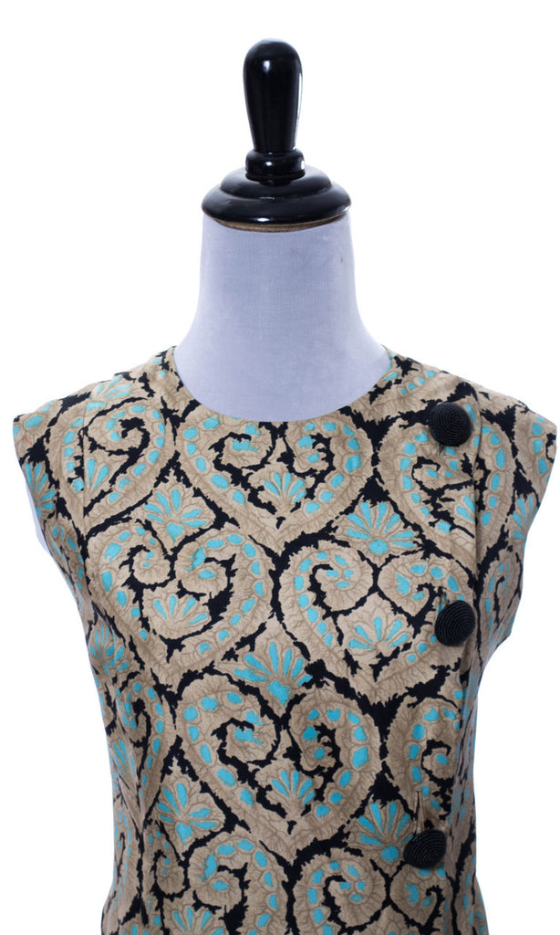 1960s vintage Paris silk tunic top