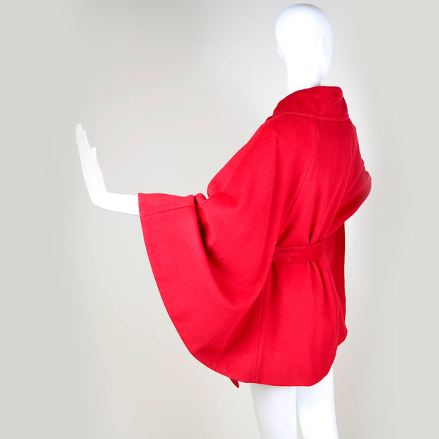 Vintage Red Circle Cape with Collar