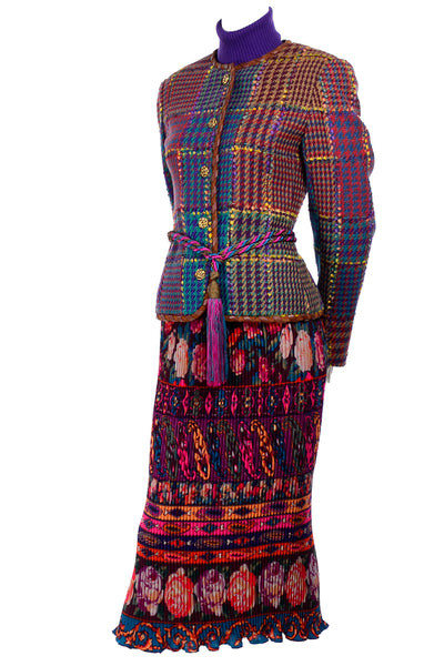 Multi-Colored Vintage Emanuel Ungaro Skirt Ensemble