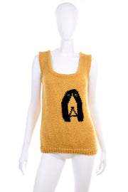 1970's Novelty Dog Sweater Vest