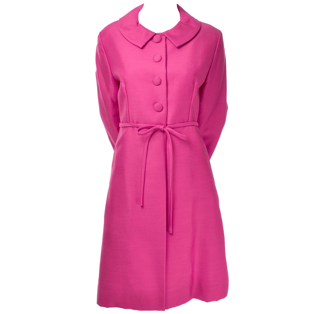 Hot Pink Emma Domb Dress Coat Suit 1960s