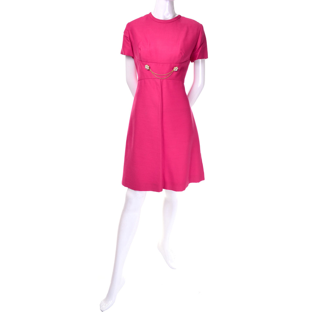 2 Piece Pink Emma Domb Dress Coat Suit 1960s