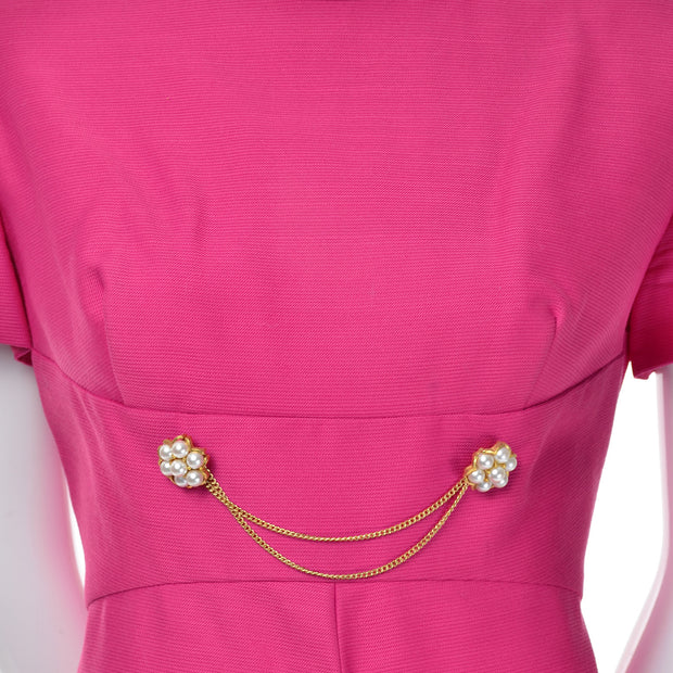 Vintage As New Pink Emma Domb Dress Coat Suit 1960s