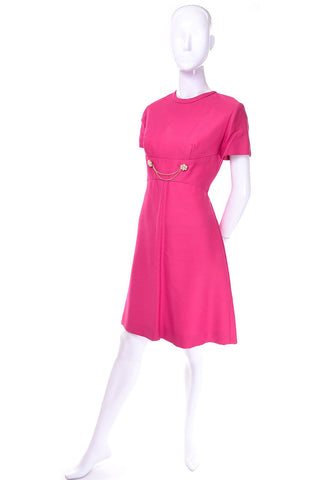 Bright Pink Emma Domb Dress Coat Suit 1960s