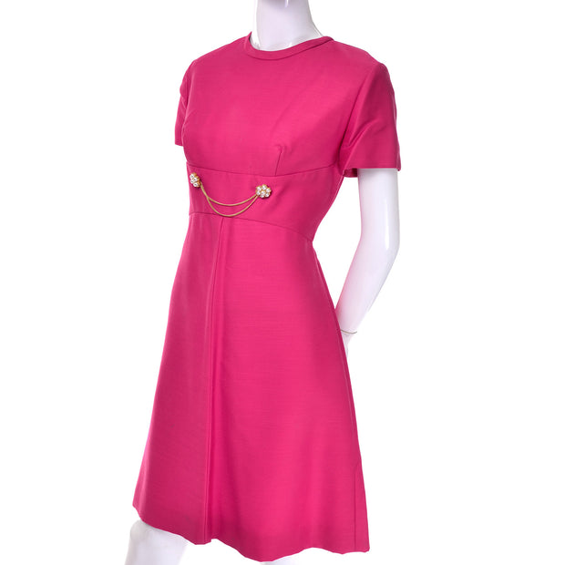 Nice Pink Emma Domb Dress Coat Suit 1960s