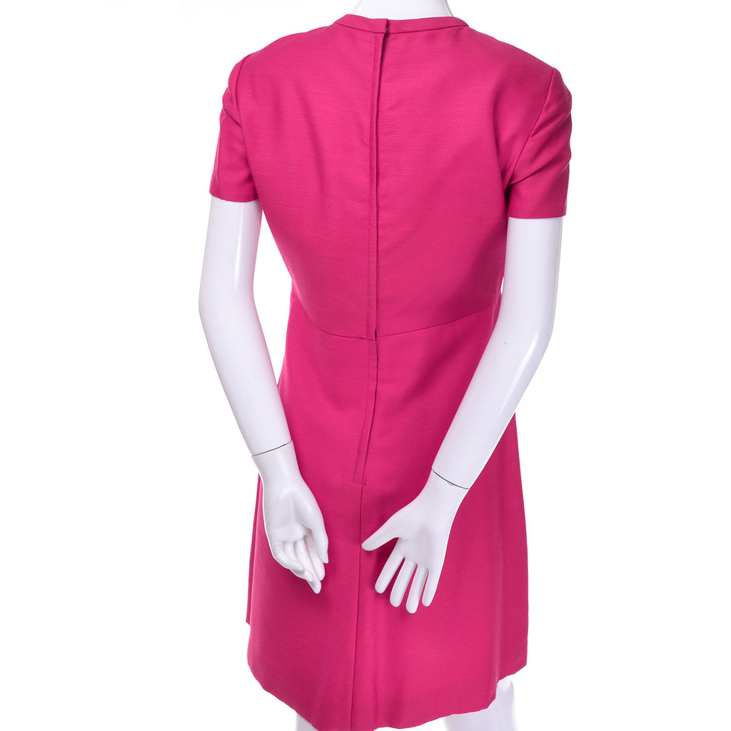Vintage Hot Pink Emma Domb Dress Coat Suit 1960s