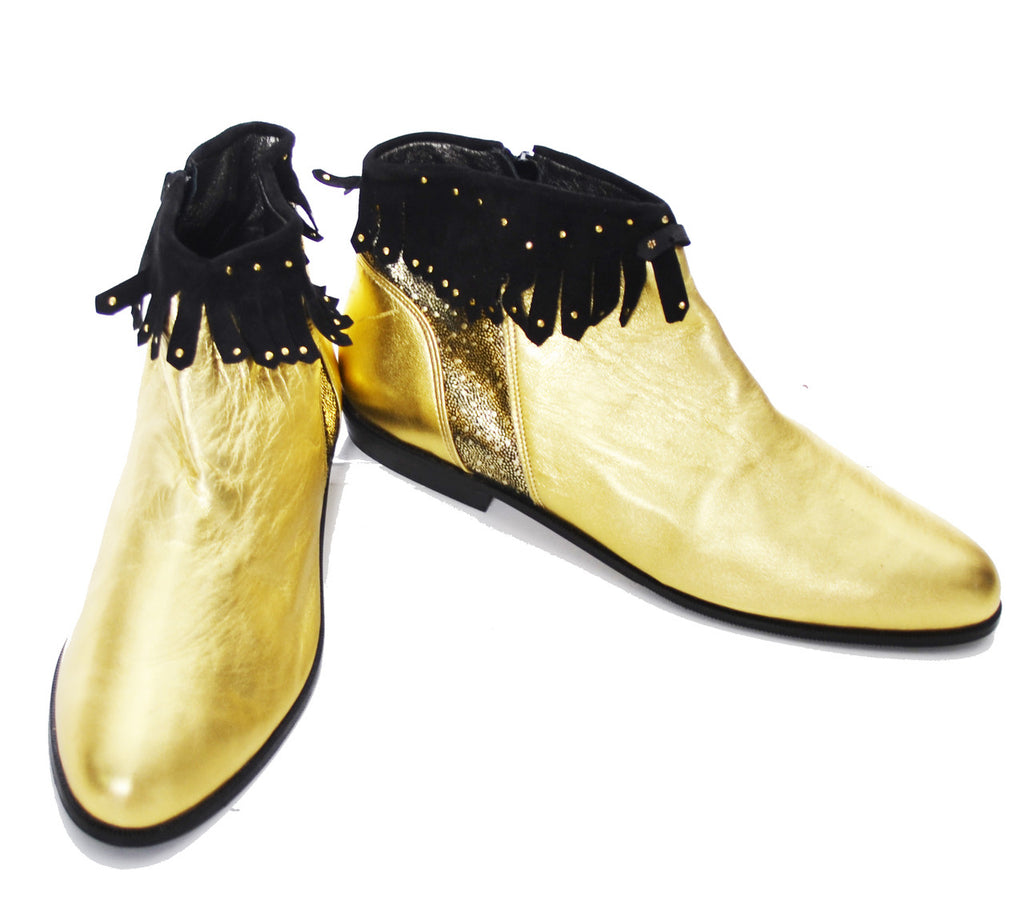 Enzo Carisi Italy vintage gold boots