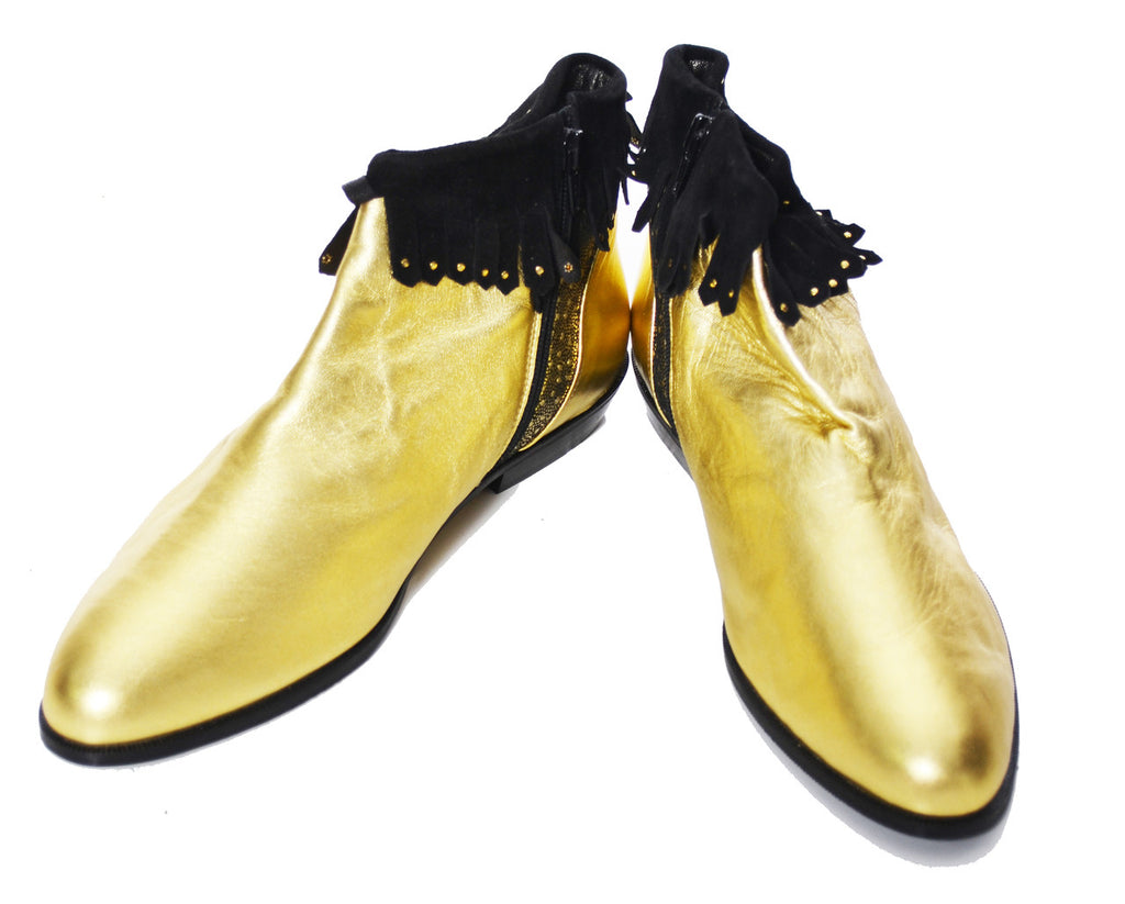 Gold lame vintage boots NEW