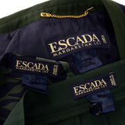 Escada Margaretha Ley Army Green and Navy Pantsuit