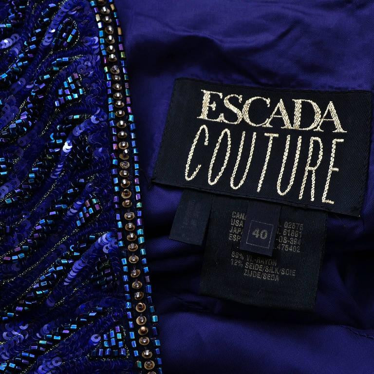 Velvet Escada Couture evening gown