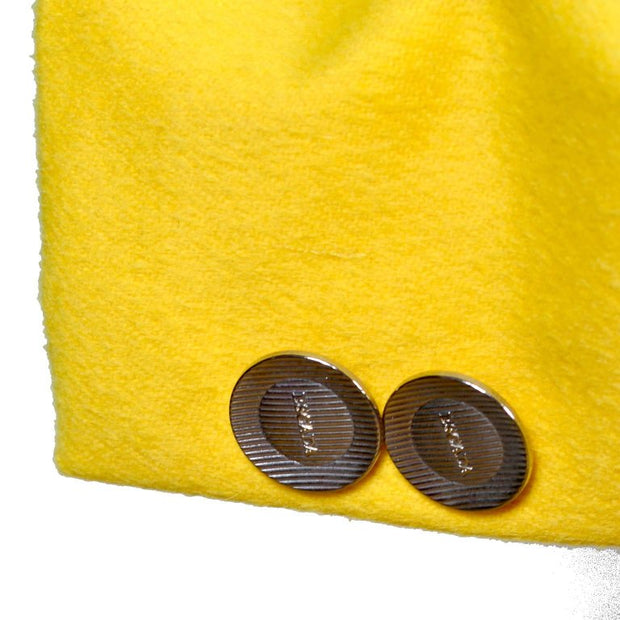 Escada Wool  & Rabbit Primary Yellow Saturated Jacket