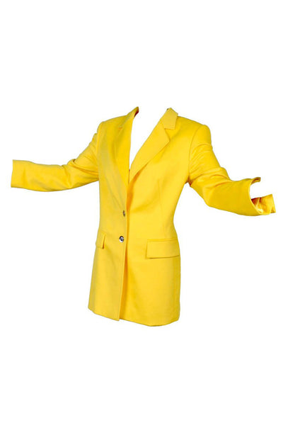 Deadstock Escada Yellow Angora Jacket