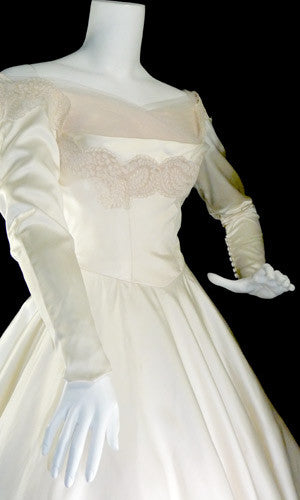 1950's NEW William Cahill Beverly Hills vintage wedding dress