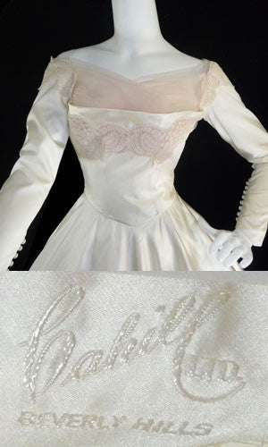 William Cahill Beverly Hills vintage wedding dress NEW 50's