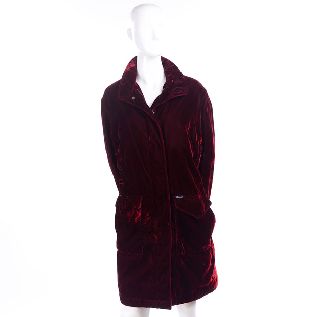 Luxurious Faconnable Vintage Red Velvet Coat