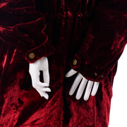 Zip Front Faconnable Vintage Red Velvet Coat