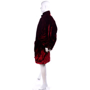 Faconnable Vintage Red Velvet Coat Jacket
