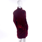 Faconnable Vintage Red Lux Velvet Coat