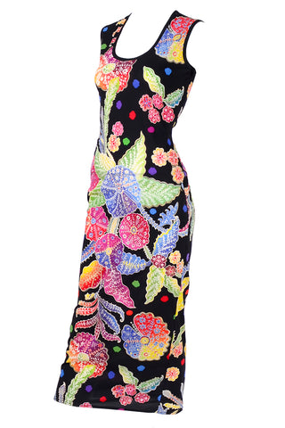 1960's Dynasty Psychedelic Quilted Vintage Dress w/ Slit