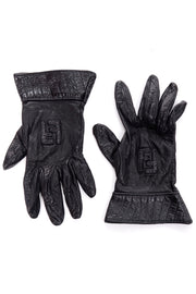 Fendi logo gloves in gauntlet style
