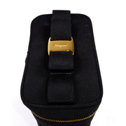 1990s Salvatore Ferragamo Vintage Black Shoe Carrier Bag w/ Original Tags