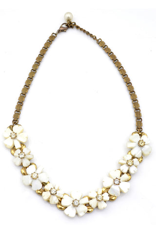 Heavy Trifari Vintage Link Necklace Gold Tone