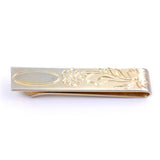 Floral engraved vintage tie bar from the 1960's from Flex Let Quality