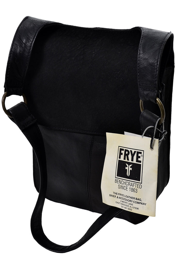 Frye New Tags Black Leather Vintage Shoulder Bag Deadstock