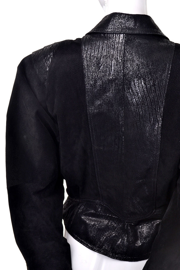 Black vintage suede leather G-III brothers fashion jacket