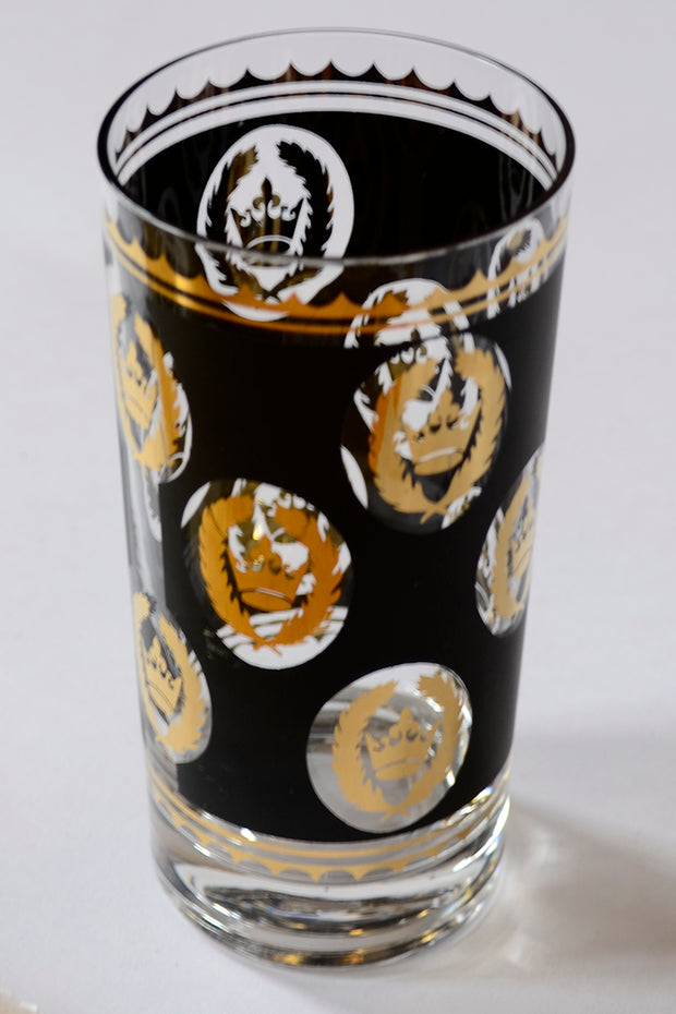 Libbey Glass G Reeves 22k Gold Glasses Highball Tumblers