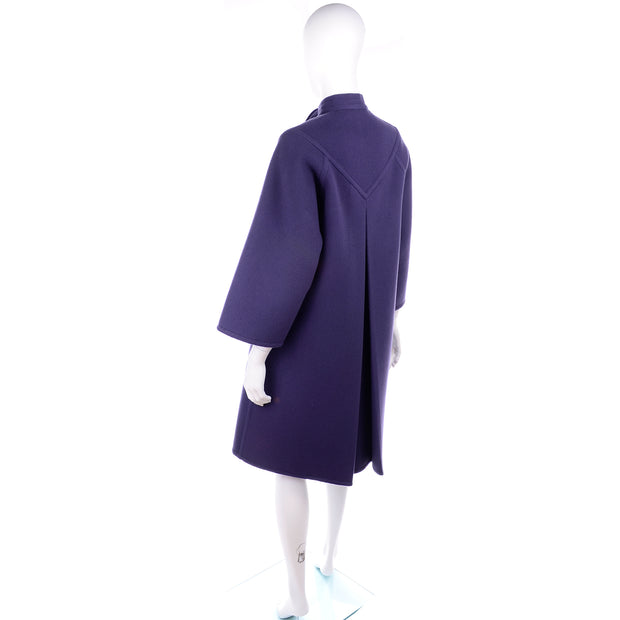 Purple Wool Vintage James Galanos Coat