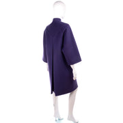 Purple Wool James Galanos Vintage Coat