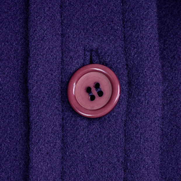 James Galanos Deep Purple Wool Vintage Coat