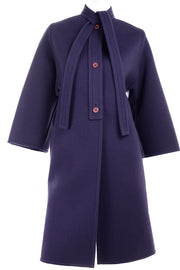 vintage purple Galanos wool Coat