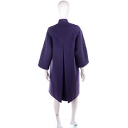 Purple Wool Vintage James Galanos Coat 1980s