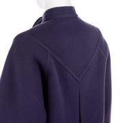 1980s Deep Purple Wool Vintage James Galanos Coat