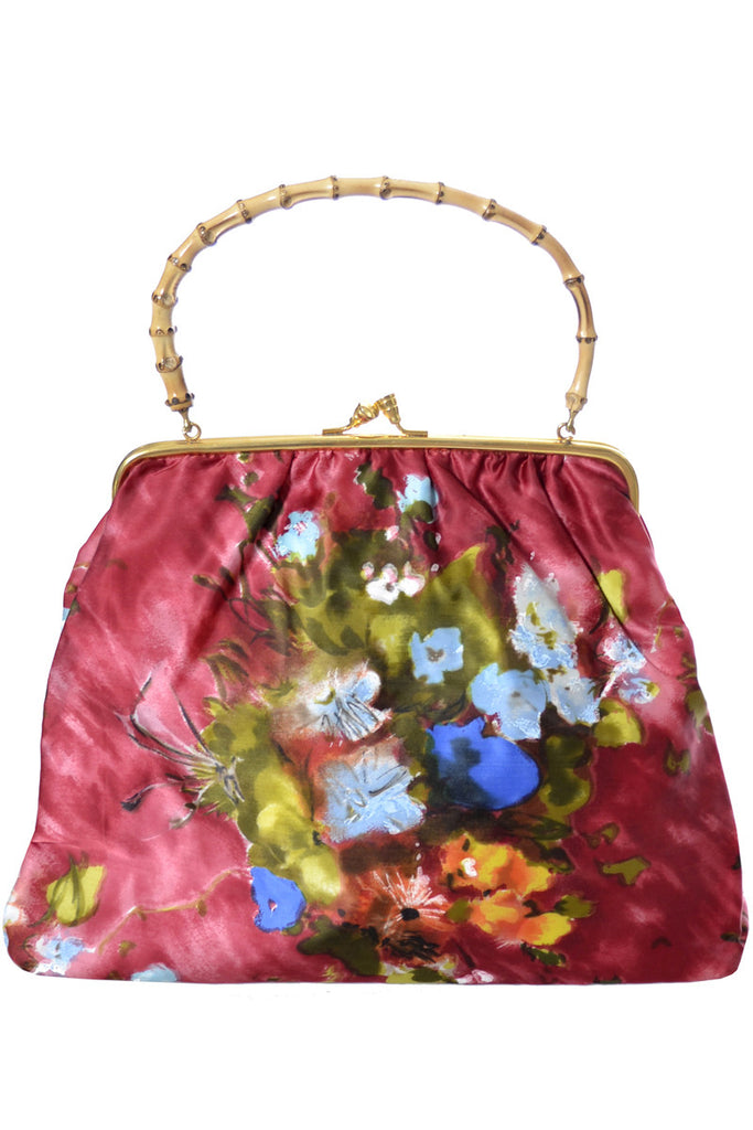 Garbo Italy vintage floral handbag at Dressing Vintage