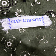 Gay Gibson Vintage Green Paisley Dress cotton dress