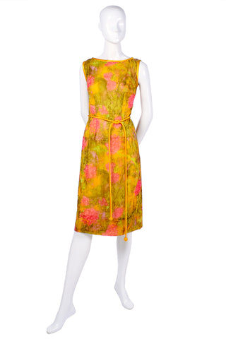 1960's vintage silk shift dress