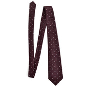 Dark brown vintage Geoffrey Beene silk men's tie