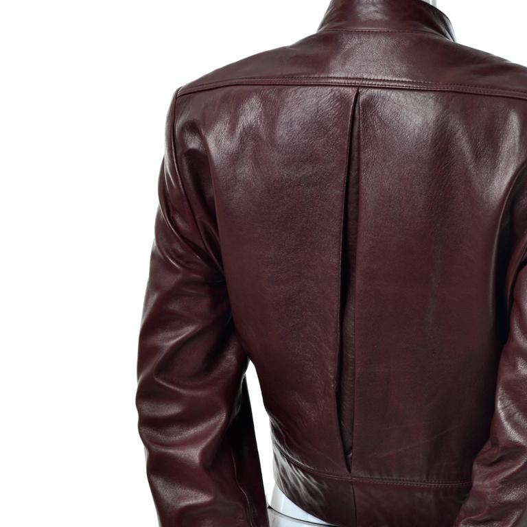 Soft leather vintage Geoffrey Beene Cordovan stylish cropped jacket