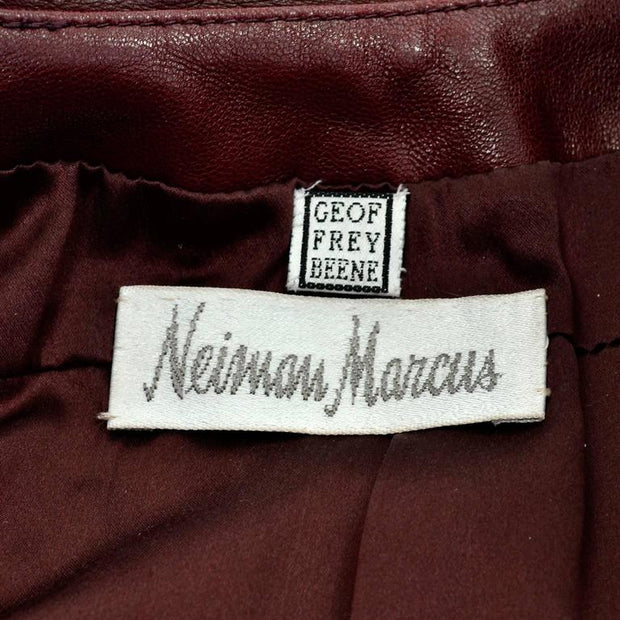 Geoffrey Beene brown leather jacket bought at Neiman Marcus