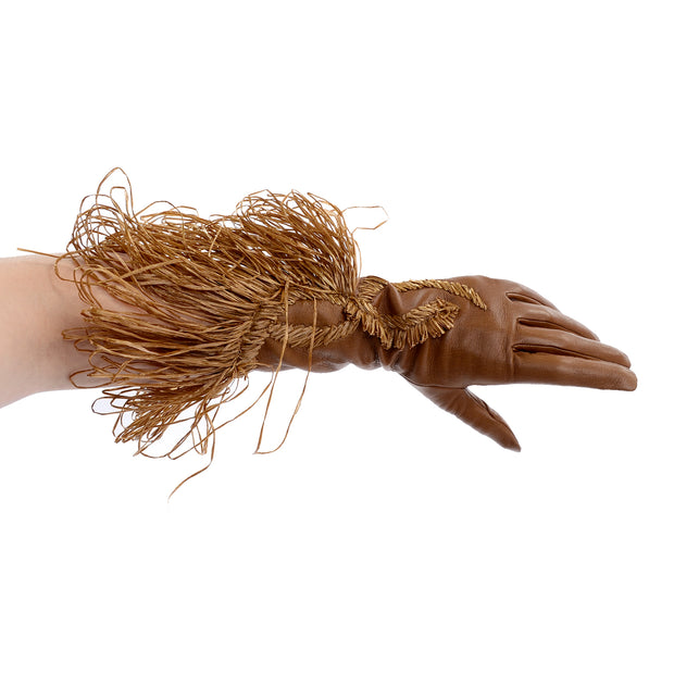 Gianfranco Ferre Vintage Leather Gauntlet Gloves