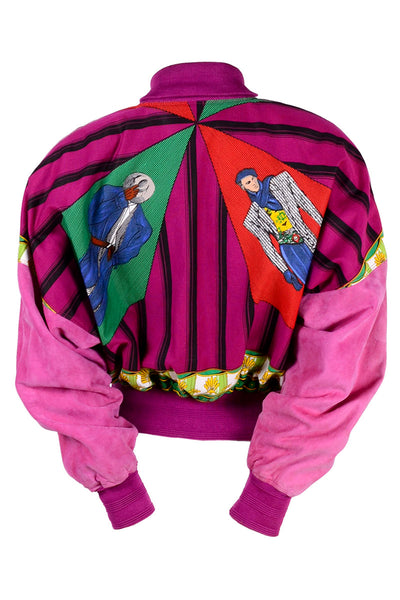 Gianni Versace Reversible Suede Silk bomber jacket